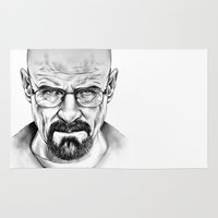 walter white Area & Throw Rugs featuring Walter White by 13 Styx