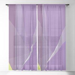 """Spring break"" minimal geometric art Sheer Curtain"