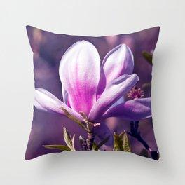 Ultra Violet Magnolia Throw Pillow