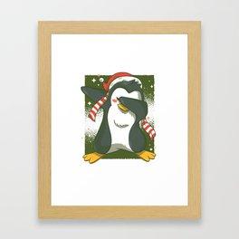 Penguin Dab Framed Art Print