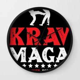 Martial arts Krav Maga self defense Wall Clock