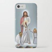 christ iPhone & iPod Cases featuring Jesus Christ by Georgi Minkov