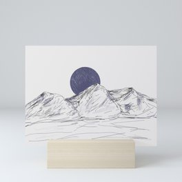 Sketched Mountain Mini Art Print
