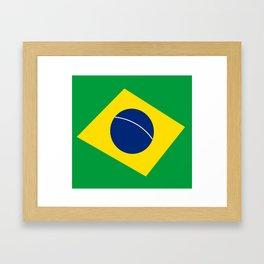 Team Brazil #brasil #selecao #bresil #brazil #russia #football #worldcup #soccer #fan #worldcup2018 Framed Art Print