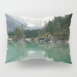 Turquoise lake - Landscape and Nature Photography Pillow Sham