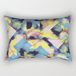 Blue colored tiles Rectangular Pillow