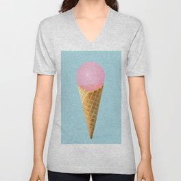 Happy ice cream Unisex V-Neck