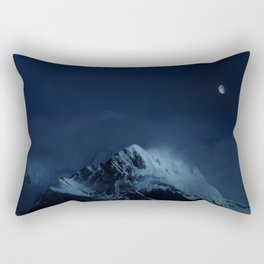 Moonlight on Aoraki / Mount Cook. Rectangular Pillow