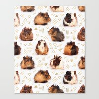 guinea pig Canvas Prints featuring The Essential Guinea Pig by micklyn