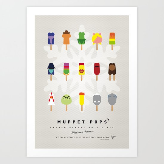 My MINIMAL ICE POPS univers III Art Print