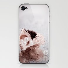 Elegant STILL LIFE with sea shell and pearls iPhone & iPod Skin