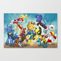mlp Canvas Prints featuring MLP X-Men by Kimball Gray