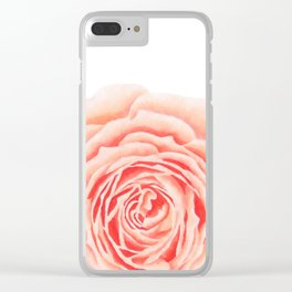 Flower, Big Rose Clear iPhone Case
