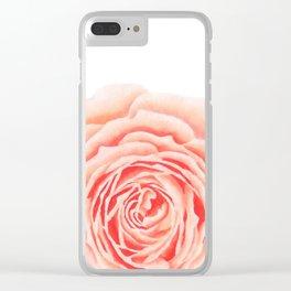 Flower, Big Rose Clear iPhone Case
