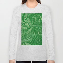 Green pastel abstract marble Long Sleeve T-shirt
