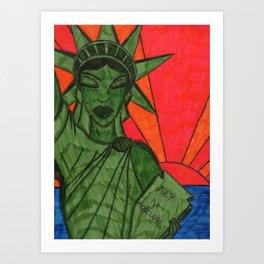 Liberty on Break Art Print
