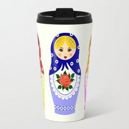 Russian matryoshka nesting dolls Travel Mug