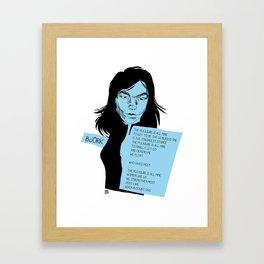 musicstrokes_bjork Framed Art Print