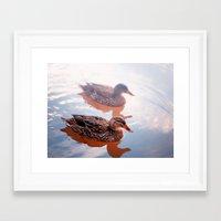 duck Framed Art Prints featuring Duck by DistinctyDesign