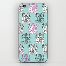 Modern Ganesh Indian handdrawn doodle illustration iPhone & iPod Skin