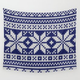 Winter knitted pattern 2 Wall Tapestry