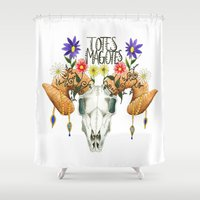 totes Shower Curtains featuring Totes Magotes by Ariana Victoria Rose