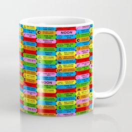 prescription warning labels Coffee Mug