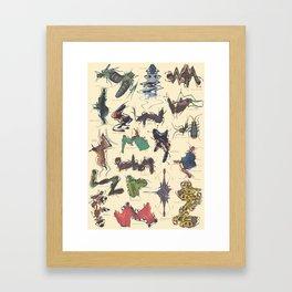 Skewed Beetles Framed Art Print