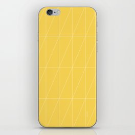 Yellow Triangles by Friztin iPhone Skin