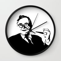 karl Wall Clocks featuring Karl Barth by Madeline Audrey