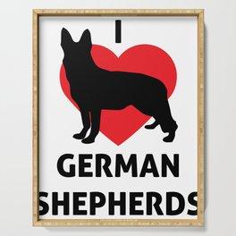 Animals I Love German Shepherds GSP Dog Serving Tray