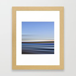 horizonte amarillo - seascape no.13 Framed Art Print