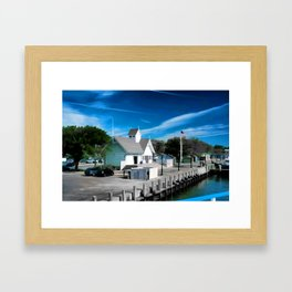 Hyannis Coastguard Framed Art Print