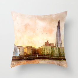 the-shard-london-skyline-england Throw Pillow
