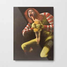 Big Mac Attack Metal Print