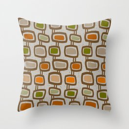 Dangling Rectangles Mid-Century Throw Pillow