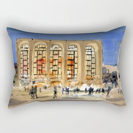 Lincoln Center at Night Rectangular Pillow