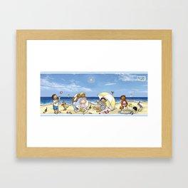 Baby Tribe - Beach Framed Art Print