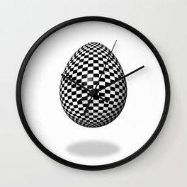 Egg Checkered Wall Clock