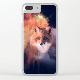 Explosive fox Clear iPhone Case