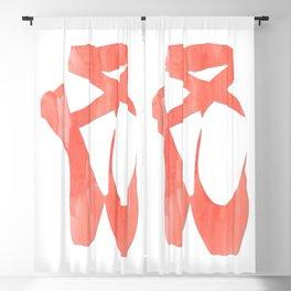 """Ballet shoes """"Coral"""" Blackout Curtain"""