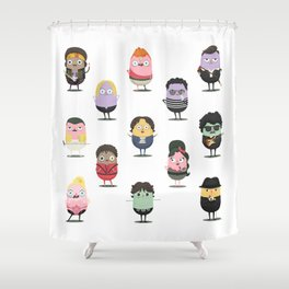 The little croquettes Music Shower Curtain