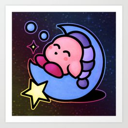 Kirby Sleep (no text) Art Print