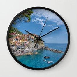 Manarola is a beautiful small town Wall Clock