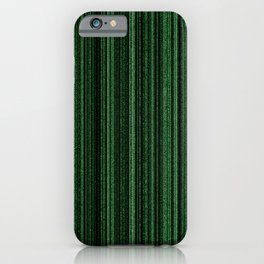 Green Matrix iPhone Case