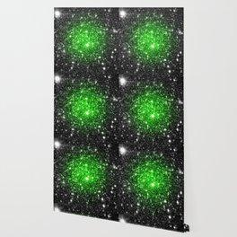 galAxy. Stars Lime Green Wallpaper