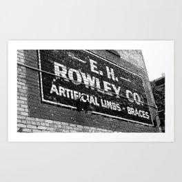 Rowley Art Print