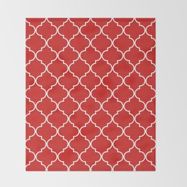 Quatrefoil - Candy Throw Blanket