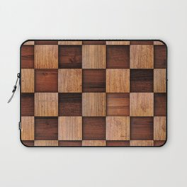 Wooden squares Laptop Sleeve