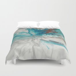 Blown Away - Abstract Acrylic Art by Fluid Nature Duvet Cover